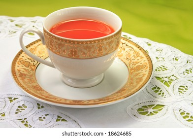 A cup of red tea