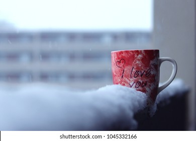 Cup in snow