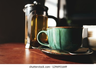 Cup of tea in coffee house