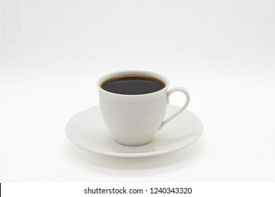 cup of tea or coffee on isolated white background