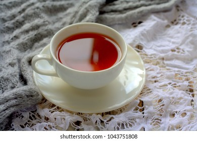 Cup of tea during cold day