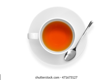 Cup of tea isolate on white background