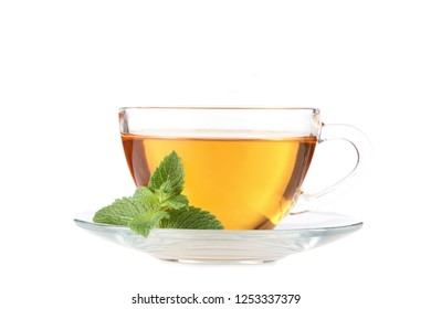 Cup of tea isolated on white background