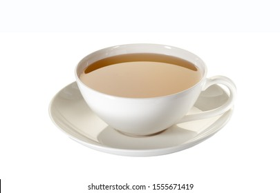 Cup of tea isolated on white with clipping path