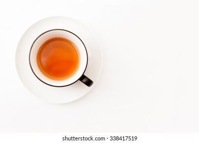 Cup of tea isolated over white background