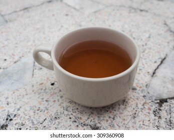 A cup of tea on the table
