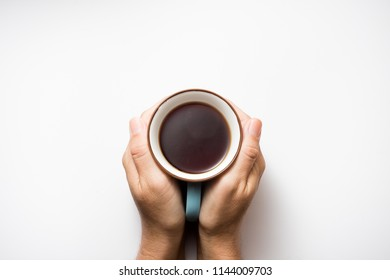 a cup of tea on white background