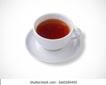 Cup of tea on a white background