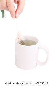 cup of tea on white background (isolated, clipping path)