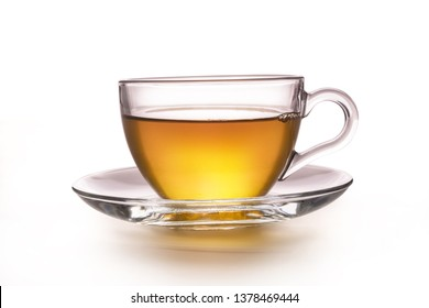 A cup of tea on a white table