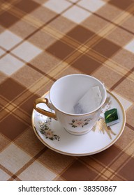 Cup with teabag