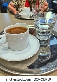 cup of turkish coffee on table