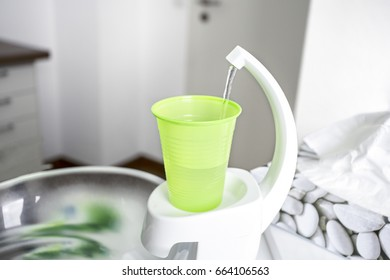 cup of water at dentist