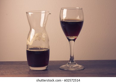cup for wine in bar