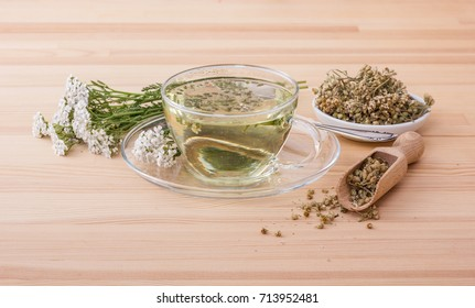 Cup with  yarrow tea