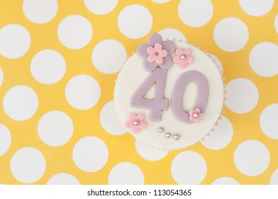 cupcake with 40 on it for anniversary or birthday