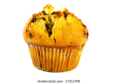 Cupcake Baked and Isolated on a White Background