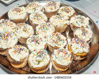 Cupcake or fairy cake (the common British term), is a small cake designed to serve one person, frequently baked in a small, thin paper or aluminum cup.