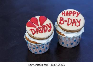 cupcake happy birthday dady