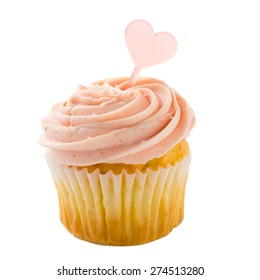 cupcake isolated over white background