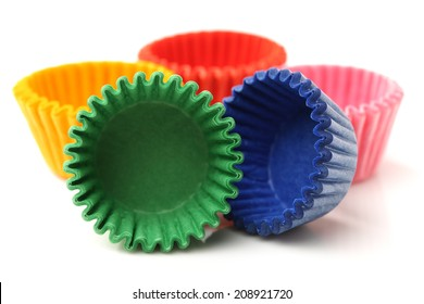 cupcake liners isolated on white background