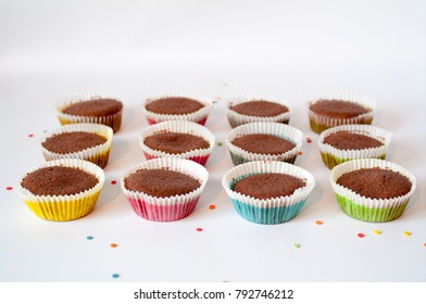 cupcake preparation on the table