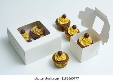 Cupcake white Boxes