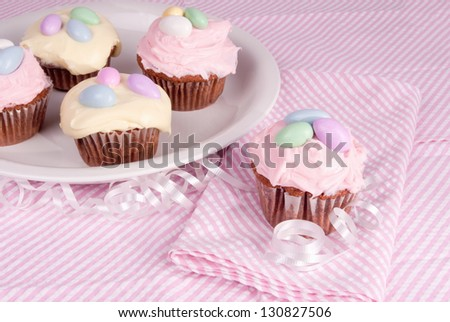 Cupcakes Easter Celebrate Springtime Made Red Stock Photo Edit Now