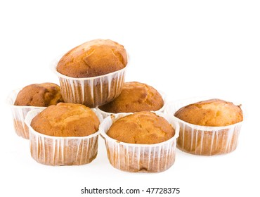 cupcakes isolated on white background