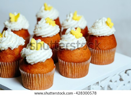 Cupcakes On Stand Stock Photo Edit Now 428300578 Shutterstock