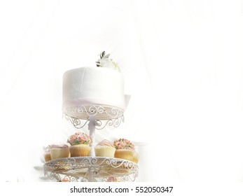 cupcakes and wedding cake
