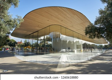 Cupertino, California - Nov 29, 2018: Apple Park Visitor Center.