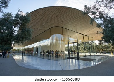 Cupertino, California - Nov 29, 2018: Apple Park Visitor Center.