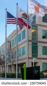 CUPERTINO, CA/USA - NOVEMBER 15: Apple headquarters on Nov 15, 2014 at Infinite loop in Cupertino. It is a multinational company, that develops consumer electronics, and computer software.