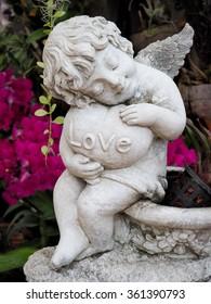 cupid boy love in park