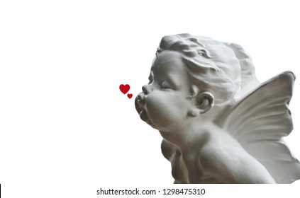 cupid cupids and hearts on a white background