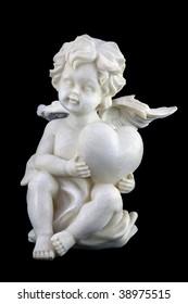 Cupid isolated on black