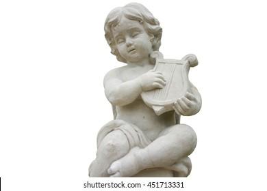 cupid statue isoletad