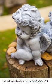 Cupids in the garden