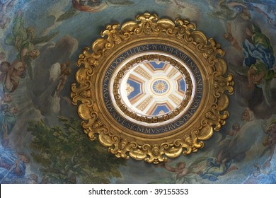 Cupola in St Peters Basilica, Vatican City, Rome, Italy