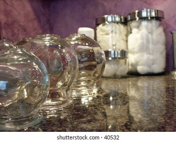 Cupping treatment jars