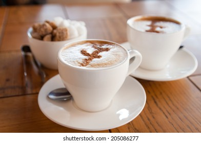 cups of coffee and sugar