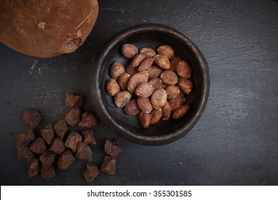 Cupuacu fruit and dry beans. Substitute of cacao, cocoa