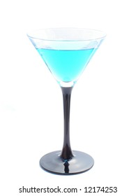 Curacao cocktail in a martini glass