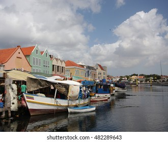 Curacao colorful floating market