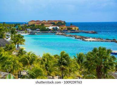 Curacao island, Caribbean sea