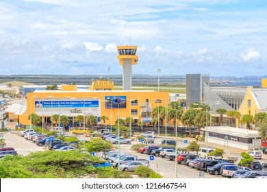 Curacao - October 23, 2018: View of Curacao International Airport