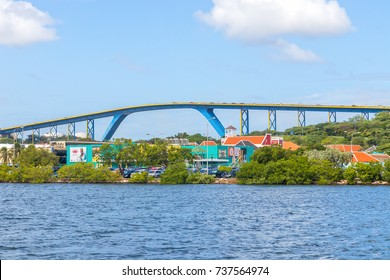 Curacao, Willemstad, 27 December 2016 - Queen Juliana Bridge in Willemstad, Curacao