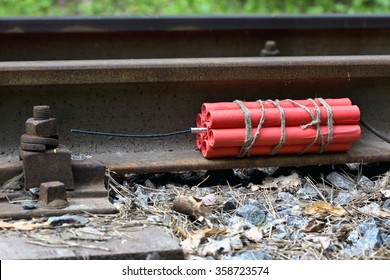 Curb the dynamite on the railway. Bomb