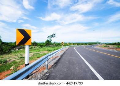 Curb of road in Thailand.Hua Hin city Thailand.